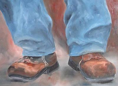Susan L Richardson Art Painting - The Musician's Shoes by Susan Richardson