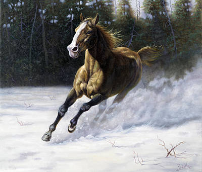Indian Fine Art Painting - The Mustang by Gregory Perillo