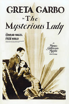 The Mysterious Lady, Us Poster Art Print by Everett