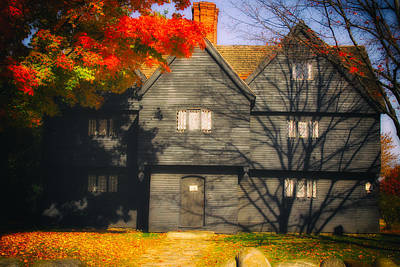 Photograph - The Mysterious Witch House Of Salem by Jeff Folger