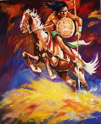 The Mystic Warrior Art Print by Al Brown