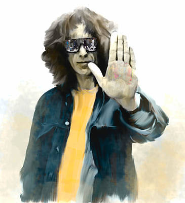 Concert Images Painting - The Mystical One  George Harrison by Iconic Images Art Gallery David Pucciarelli