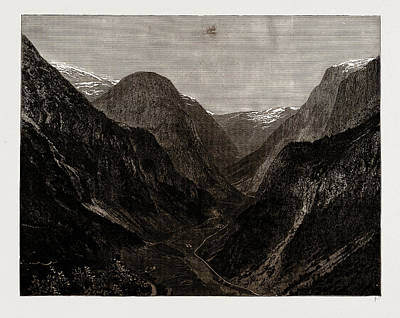Norway Drawing - The Naerodal, Norway by Litz Collection