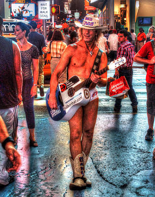 Photograph - The Naked Cowboy 001 by Jeff Stallard