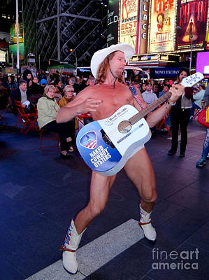 Photograph - The Naked Cowboy In Times Square by Ed Weidman
