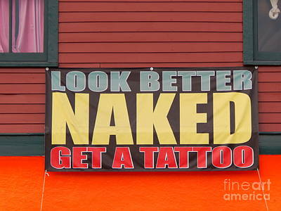 Photograph - The Naked Tattoo by Michael Hoard