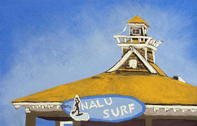 The Nalu Surf Shack Art Print by Cristel Mol-Dellepoort
