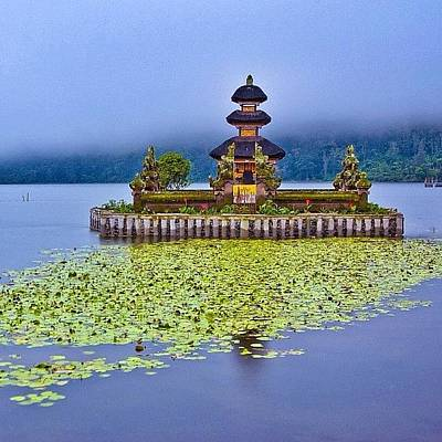 Natureonly Photograph - The Name Ulun Danu, Literally Means by Tommy Tjahjono