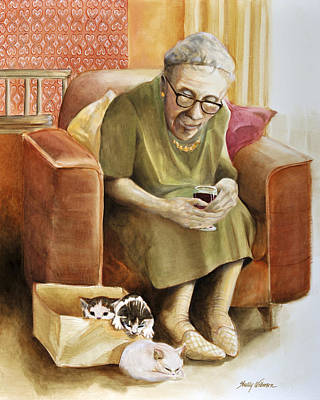 Church Lady Painting - The Nanny by Shelly Wilkerson