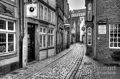 Photograph - The Narrow Cobblestone Street by Ari Salmela