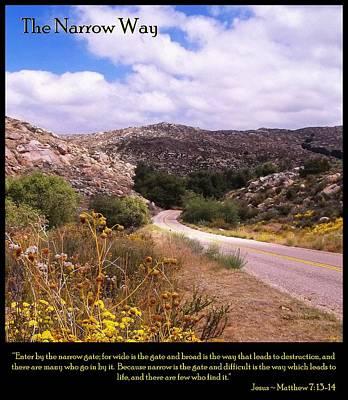 Pastor Photograph - The Narrow Way by Glenn McCarthy Art and Photography