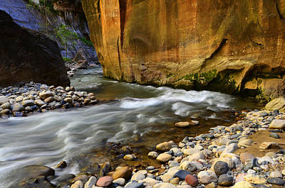 The Narrows Virgin River Zion 1 Art Print