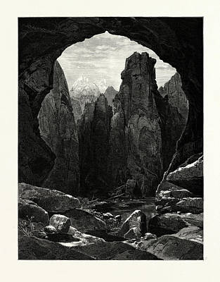 The Narrows, North Fork Of The Rio Virgen Art Print by English School