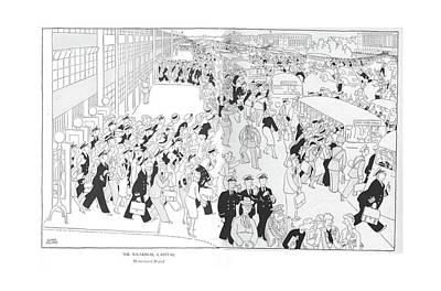 The National Capital  Homeward Bound Art Print by Gluyas Williams