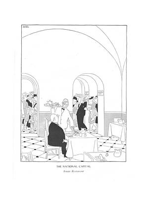 Senate Drawing - The National Capital Senate Restaurant by Gluyas Williams