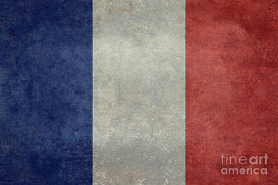 The National Flag Of France Art Print by Bruce Stanfield