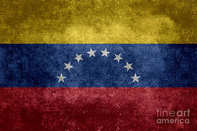 Amerindian Digital Art - The National Flag Of The Bolivarian Republic Of Venezuela  Vintage Version by Bruce Stanfield