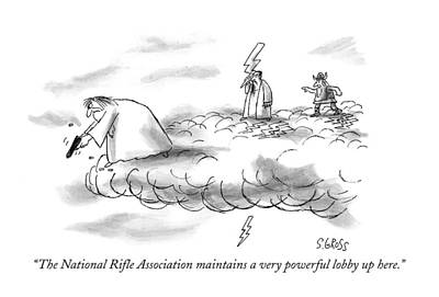 Zeus Drawing - The National Rifle Association Maintains by Sam Gross