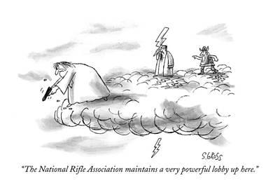 The National Rifle Association Maintains Art Print by Sam Gross