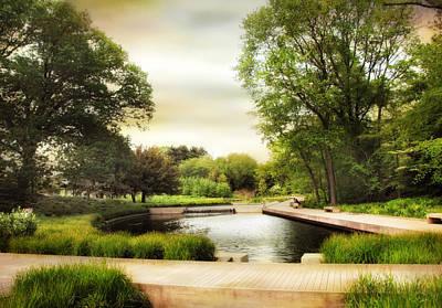 Walkway Digital Art - The Native Garden Boardwalk by Jessica Jenney