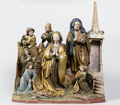 The Nativity, Attributed To Hans Kamensetzer Art Print