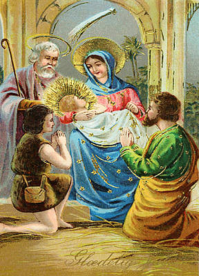 The Nativity Art Print by Bill Cannon
