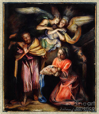 Drawing - The Nativity Drawing by Daliana Pacuraru
