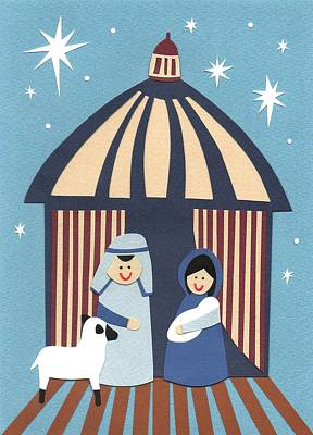 Nativity Painting - The Nativity by Isobel Barber