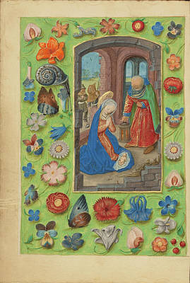 Prayer Drawing - The Nativity Master Of The Dresden Prayer Book Or Workshop by Litz Collection