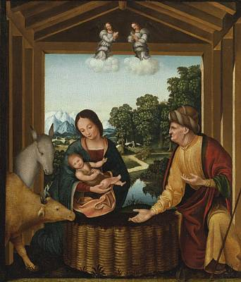 Nativity Painting - The Nativity by Celestial Images