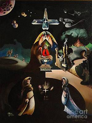 Painting - The Nativity by Peter Olsen