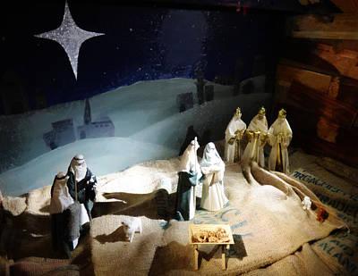 Nativity Digital Art - The Nativity Scene by Steve Taylor