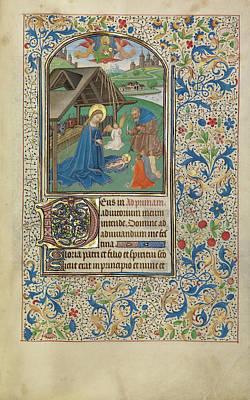 The Nativity Willem Vrelant, Flemish, Died 1481 Art Print