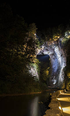 Photograph - The Natural Bridge At Night  by Amber Kresge