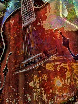 The Nature Of Music Digital Guitar Art By Steven Langston Art Print by Steven Lebron Langston