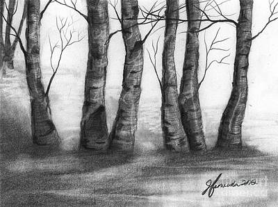 Drawing - The Nature Of Trees by J Ferwerda