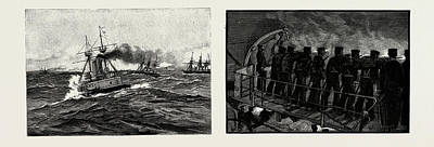 Sight Drawing - The Naval Manoeuvres We Sight Four Ships Of The Enemy by Litz Collection