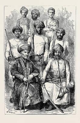 K. S. C Drawing - The Nawab Of Junagadh, K.g by English School