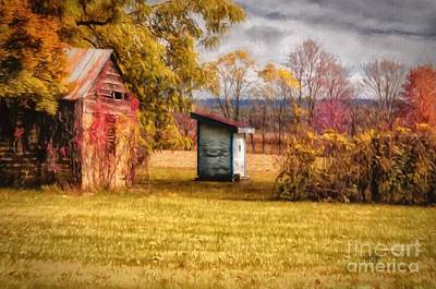 Autumn Landscape Digital Art - The Necessary by Lois Bryan
