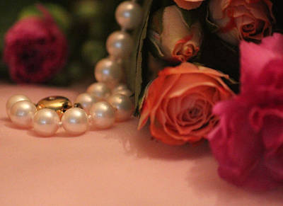 Pearls Photograph - The Necklace Of Life by The Art Of Marilyn Ridoutt-Greene