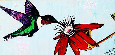 Painting - The Nectar Of Life by Alberto H-B