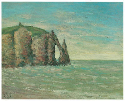 The Needle At Etretat Art Print by Claude Emile Schuffenecker
