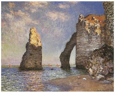 The Needle Etretat Art Print by Claude Monet