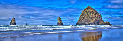 Photograph - The Needles And Haystack Rock - Cannon Beach Oregon by David Patterson