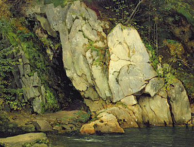 Fresh Water Painting - The Needle's Eye by Ludwig Adrian Richter