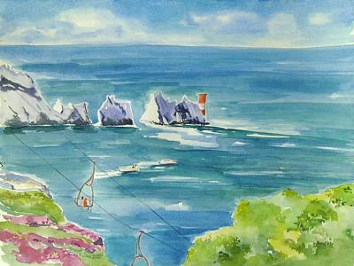 Painting - The Needles Isle Of Wight by Geeta Biswas