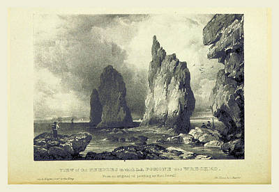 The Needles On Which La Pomone Was Wrecked Art Print by Litz Collection