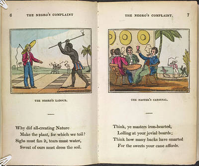 Slaves Photograph - The Negro's Labour by British Library