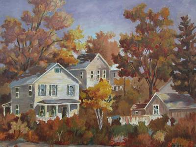 Painting - The Neighborhood by Tony Caviston