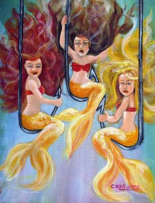 Painting - The Neptunes -- Golden Girls by Carol Allen Anfinsen